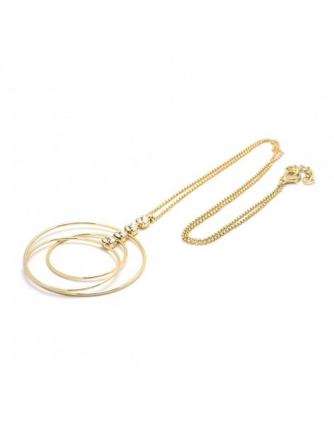 Long necklace with Swarovski® Elements greek handmade gold ERASE