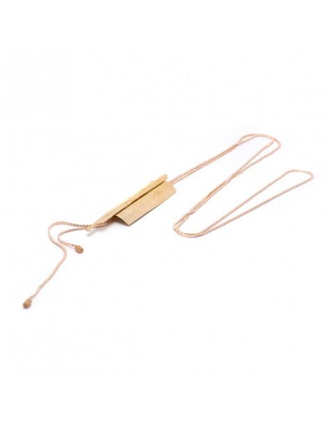 Lange Halskette aus Bronze handgefertigt rosegold LILIA