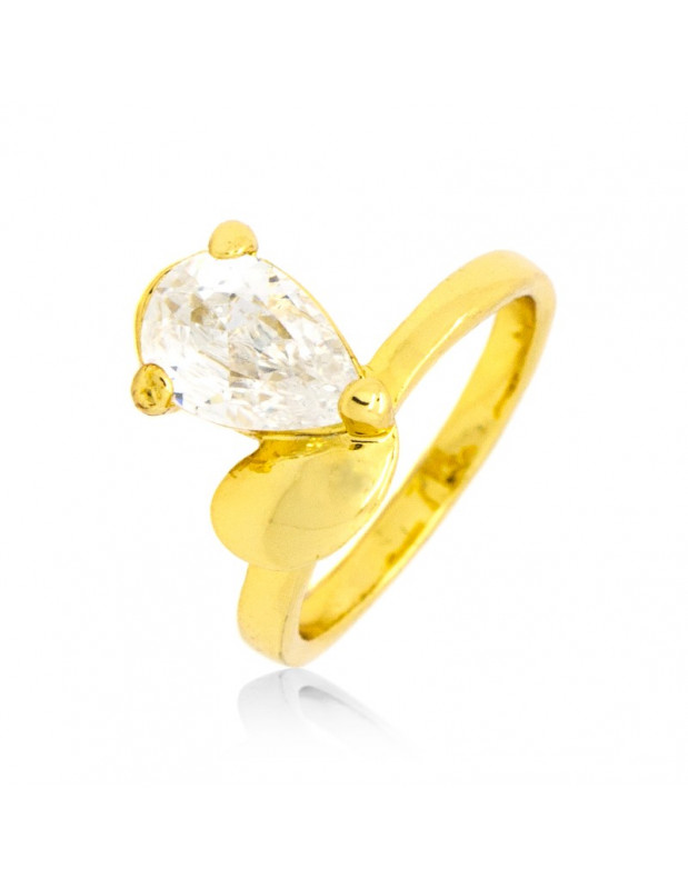 Ring with crystal gold HOPE