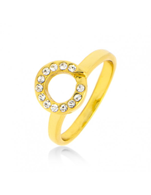Ring with crystals gold NYSRO