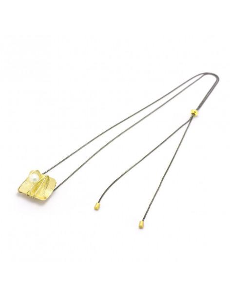 Lange Halskette mit Perle gold MATAN