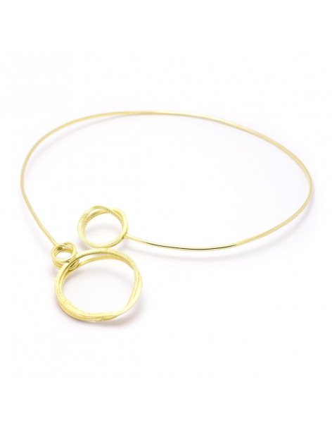 Große Kragen Halskette aus vergoldeter Bronze SWIRI