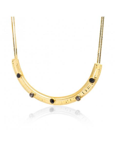 Kragen Halskette mit Swarovski® Steinen vergoldet UMO