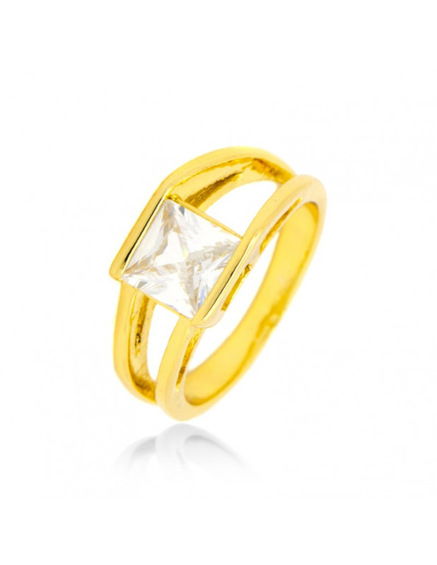 Solitaire Ring with crystal gold SYMNE