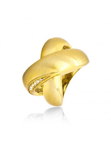 Ring mit Zirkonia Steinen gold KABIRE