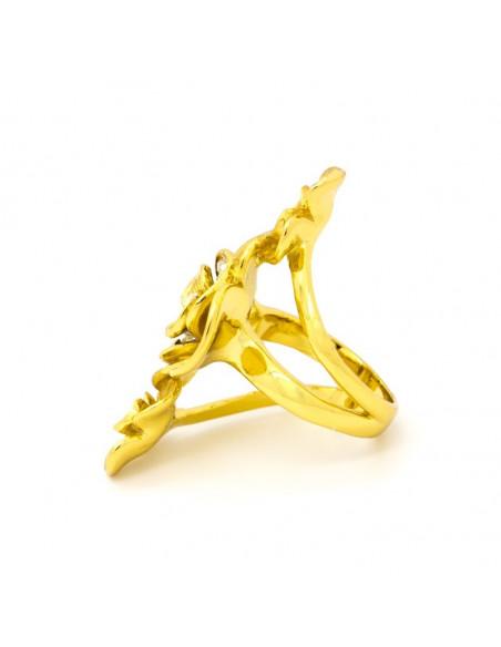 Statement δαχτυλίδι με ζιργκόν χρυσό ACHELOIDES 3
