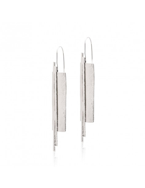 Long earrings from silver plated bronze LILIA