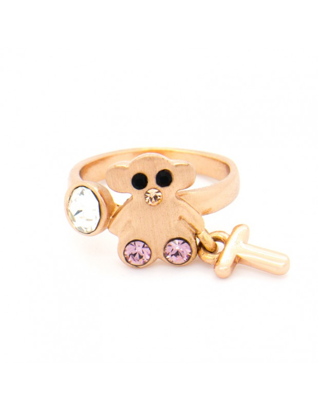 "RING ROSE GOLD PLATED ""SWEET B"""