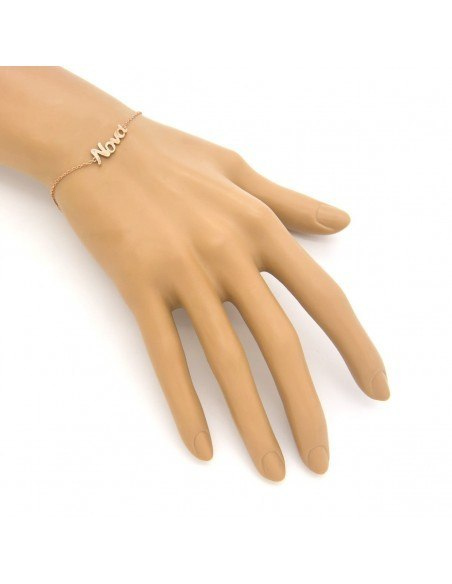 "Silver bracelet ""GODMOTHER"" rose gold plated A20140851 2"