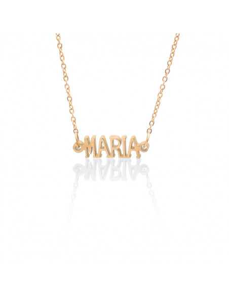 Greek Name Necklace Maria rose gold