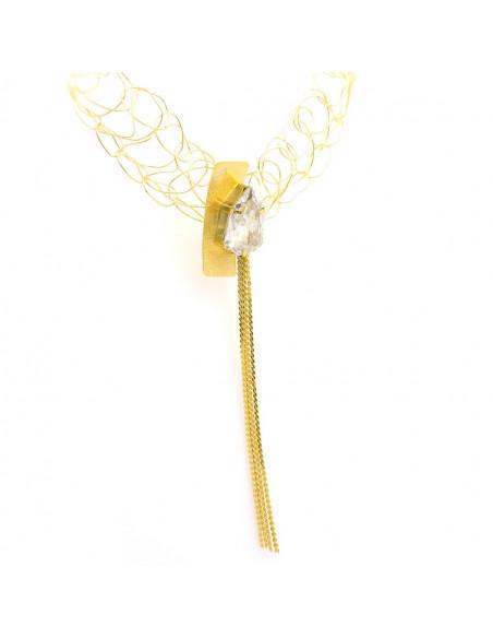Kragen Halskette aus Bronze mit Swarovski® Elements gold MINE 6