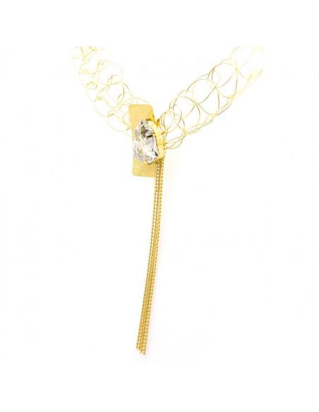 Kragen Halskette aus Bronze mit Swarovski® Elements gold MINE 7