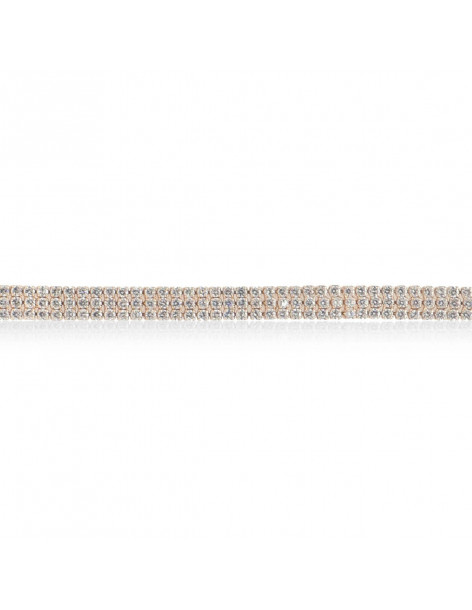 Rhinestone Bracelet from rose gold stainless steel TRIPLE