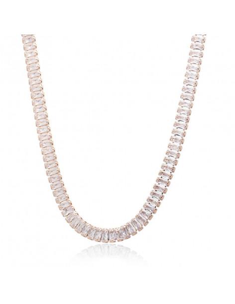 Rhinestone chain rose gold plated SOPHIA