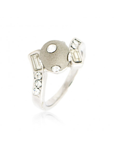 """RING WHITE GOLD PLATED """"GLORIA"""""""