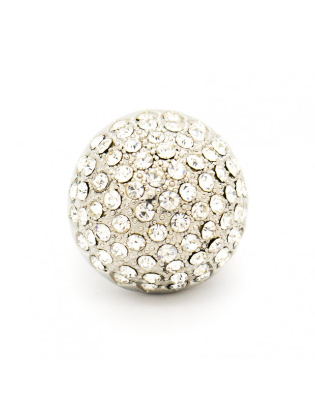 "RING WHITE GOLD PLATED ""GLAMOUR"""