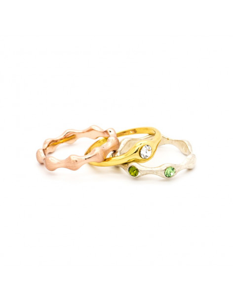 "RING GOLD PLATED ""LEDA"""