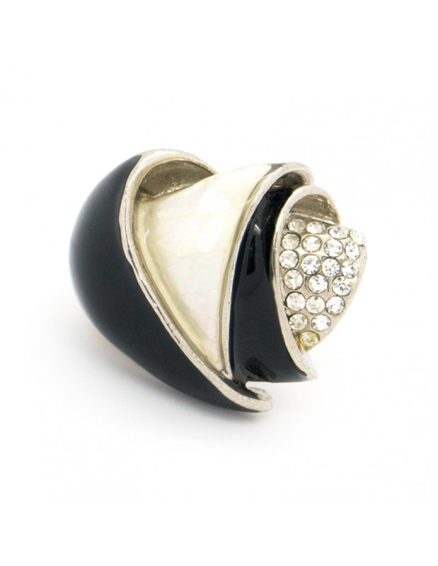 "RING WHITE GOLD PLATED ""PHANIA"""
