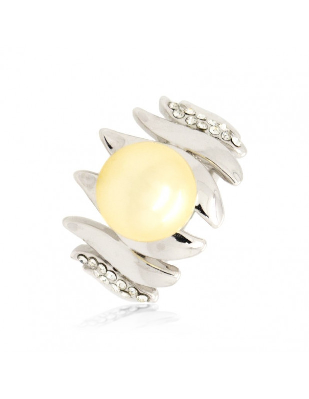 """RING WHITE GOLD PLATED """"YANNA"""""""