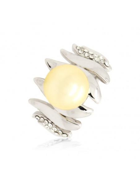 Δαχτυλίδι με μαργαριτάρια και ζιργκόν χειροποίητα ασημί YANNA