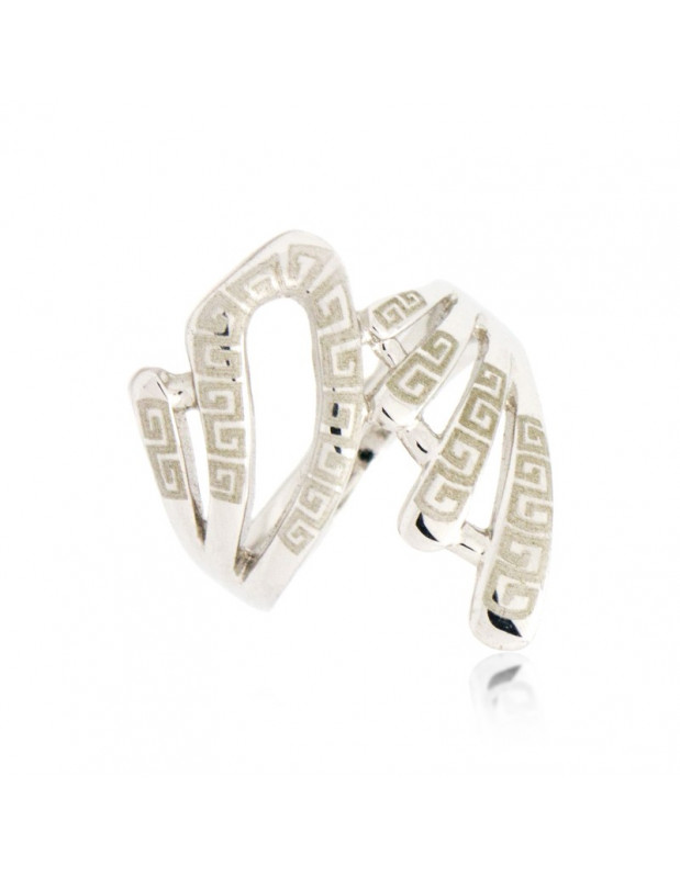 """RING WHITE GOLD PLATED """"SAPPHARIE"""""""