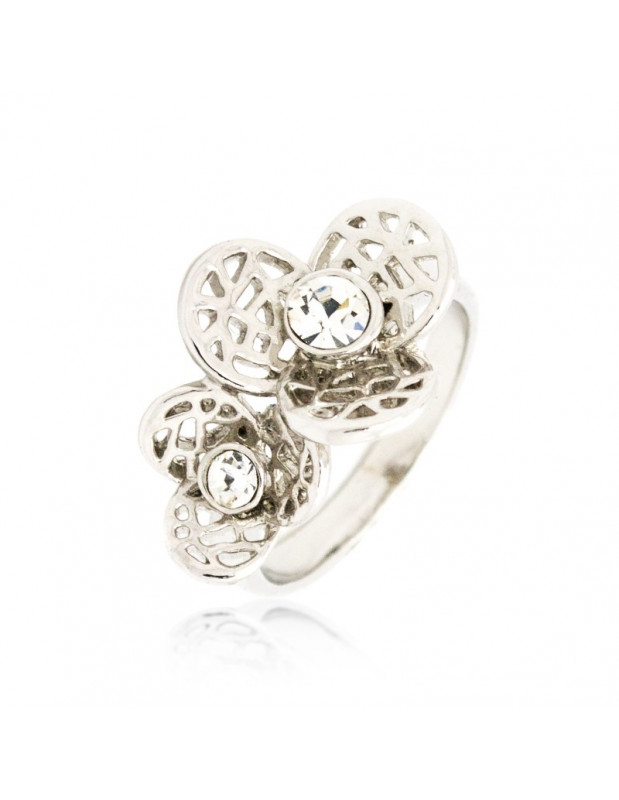 """RING WHITE GOLD PLATED """"RAUEL"""""""