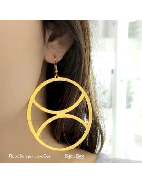 Hoop earrings handmade gold ZETA 2