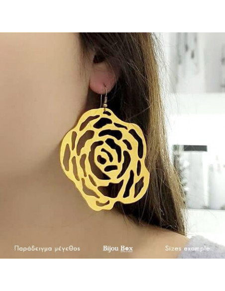Earrings made of gold plated bronze CADERA 2