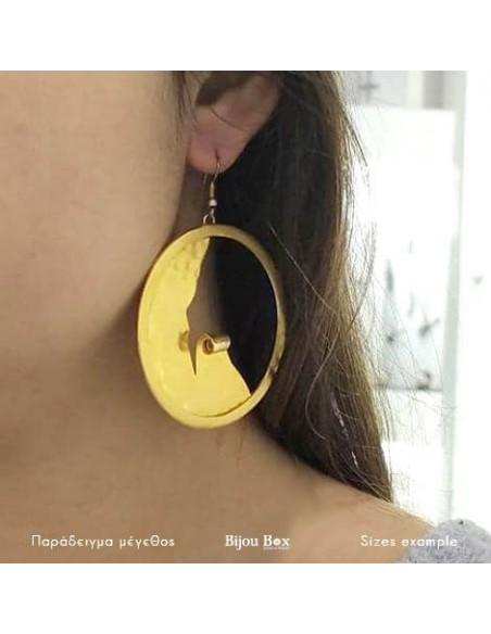 Große Ohrringe aus Bronze vergoldet LEANDRA 2