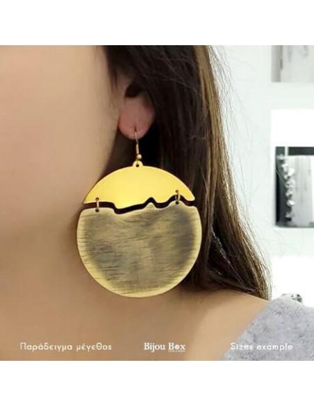 Big Earrings made of bronze gold NOX 2