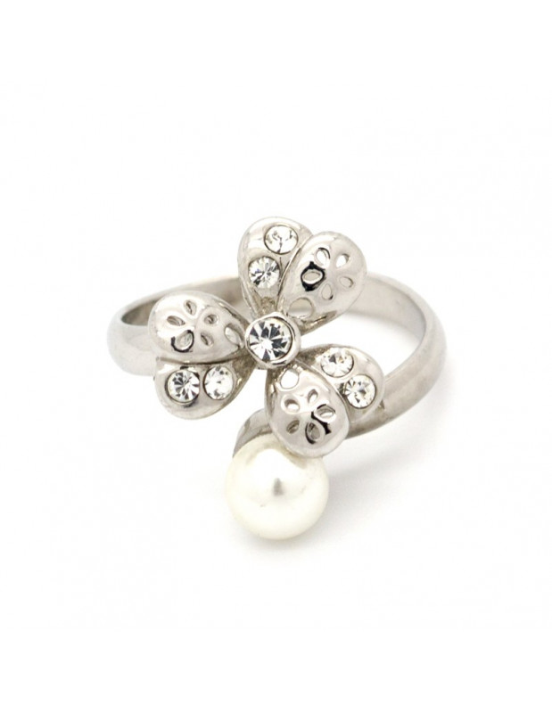 """RING WHITE GOLD PLATED """"AKRIVI"""""""