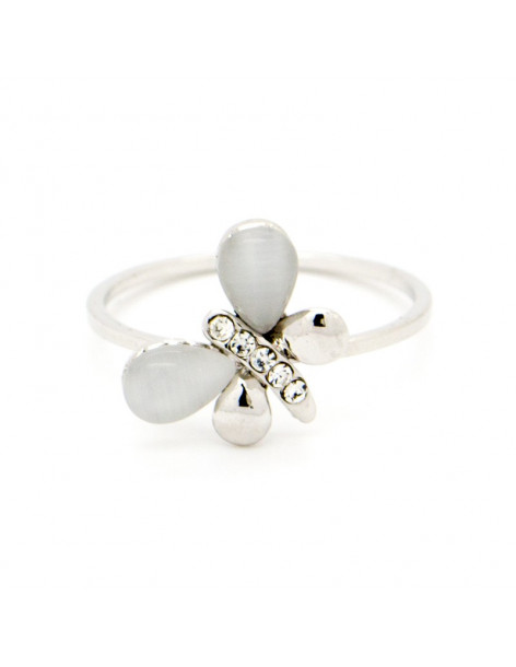 """RING WHITE GOLD PLATED """"EGLI"""""""