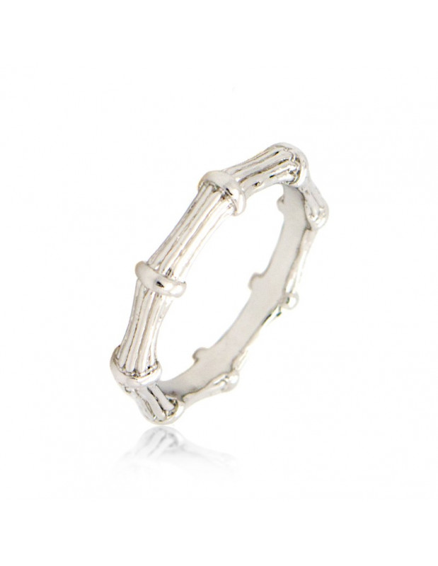 """RING WHITE GOLD PLATED """"ARET"""""""