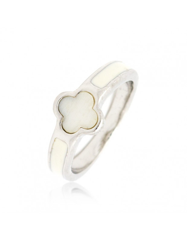 """RING WHITE GOLD PLATED """"BIA"""""""
