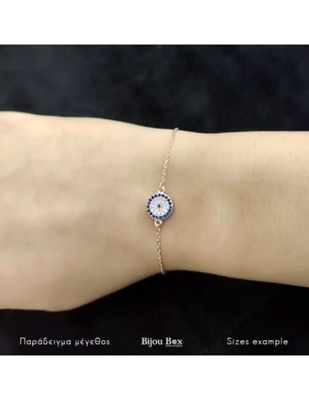Nazar bracelet from rose gold plated silver 925 BALO 2