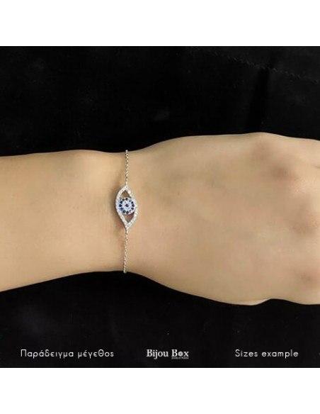 Nazar bracelet from sterling silver SELS 2