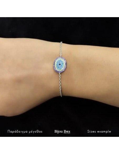 Nazar bracelet from sterling silver WESI 2