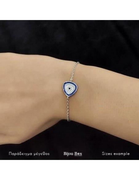 Nazar bracelet from sterling silver BERIO 2