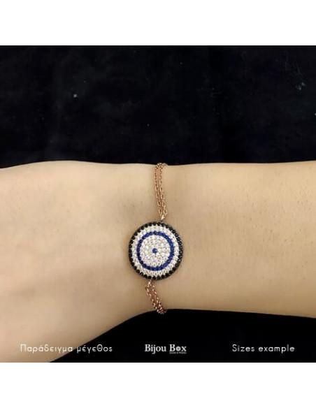 Nazar Armband aus rosévergoldetem Silber 925 TERVI 2