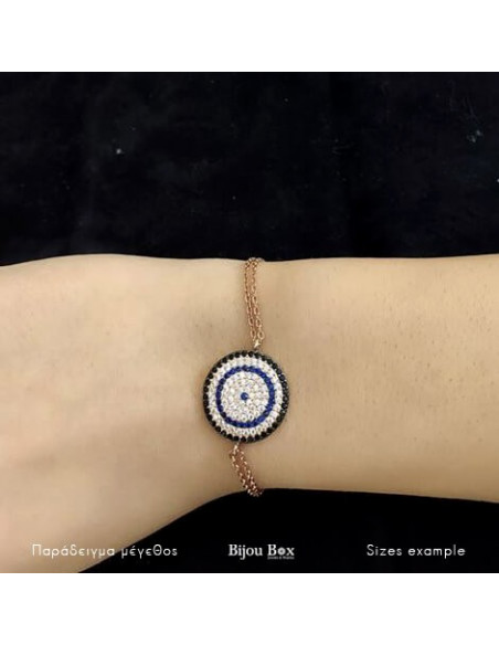 Nazar bracelet from rose gold plated silver 925 TERVI 2