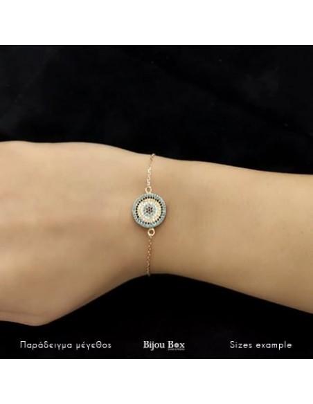 Nazar bracelet of rose gold plated silver 925 TORINO 2