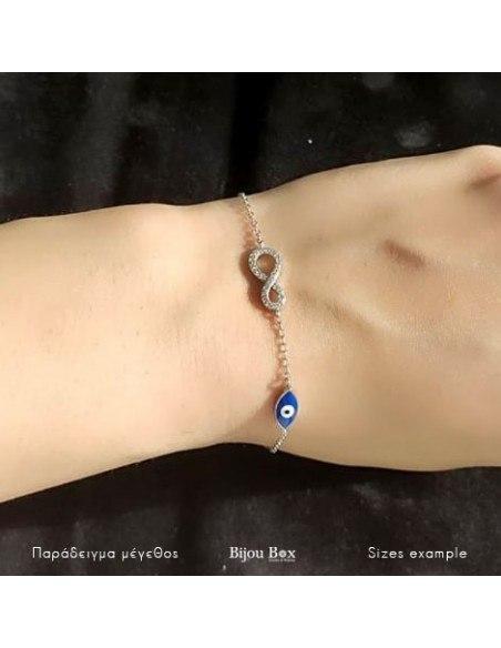 Bracelet with infinity / nazar of silver 925 with zirconia GENUA 2