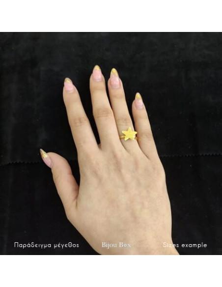 Δαχτυλίδι μπρούτζο επίχρυσο ASTERAKI 2