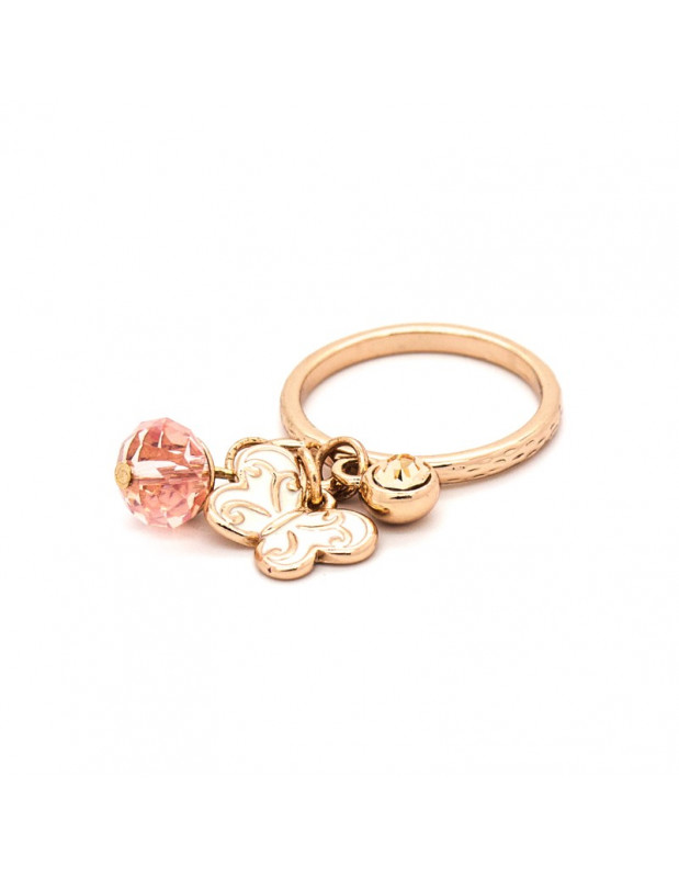 Ring with charms rose gold plated LIGA