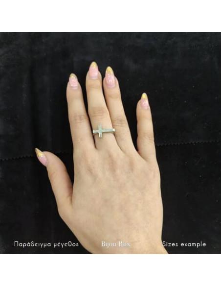 Δαχτυλίδι μπρούτζο επαργυρωμένο BIG STAYRO II 2