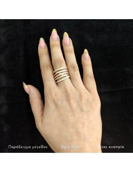 Ring aus rosé gold vergoldeter Bronze VARKOULES 2