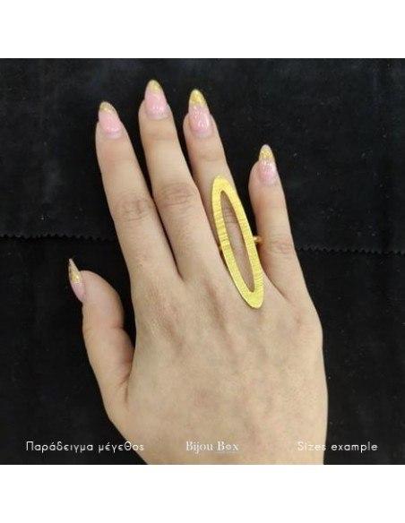 Statement ring of gold plated bronze ALVARA 2