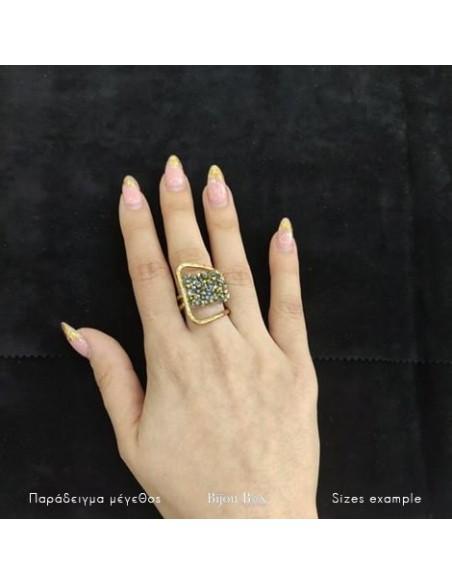Δαχτυλίδι αρχαιοελληνικό με ζιργκόν χρυσό DIAMANT 2