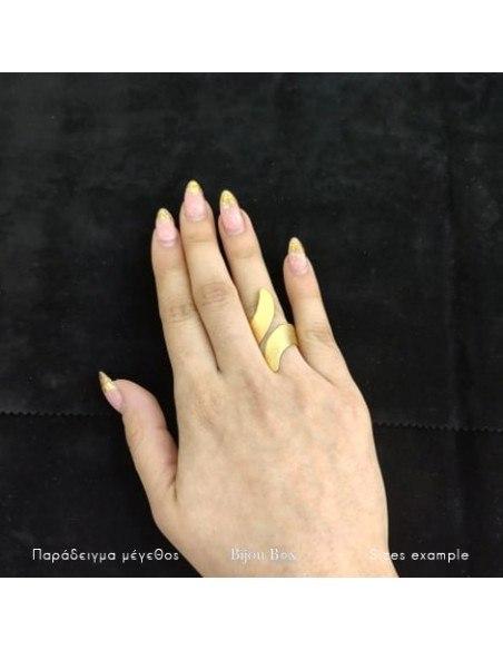 Grecian designer ring gold HERMES 2