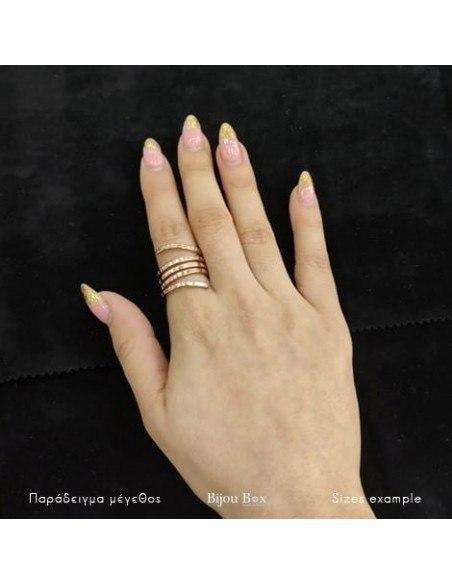 Δαχτυλίδι αρχαιοελληνικό ροζ επίχρυσο ROLLI 2